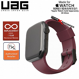 UAG [U] Dot Silicone Strap for Apple Watch Series SE / 6 / 5 / 4 / 3 / 2 / 1 ( 40mm / 38 mm ) - Aubergine (Barcode: 812451036275 )